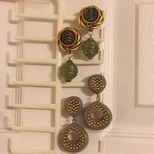 Vintage 80s clip earrings